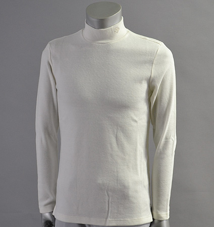 Fairy Powder FP17-5101 Stretch Hi Neck Pull Over White