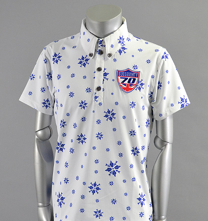 2017 SubSeventy AS10093 BackBorder Flower Polo Navy