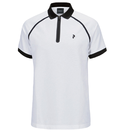 2018 PeakPerformance Banker Polo White