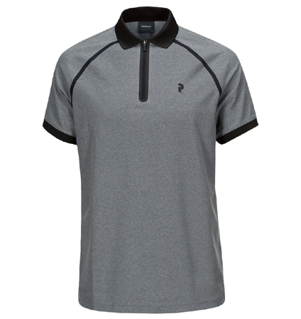 2018 PeakPerformance Banker Polo Grey Mel