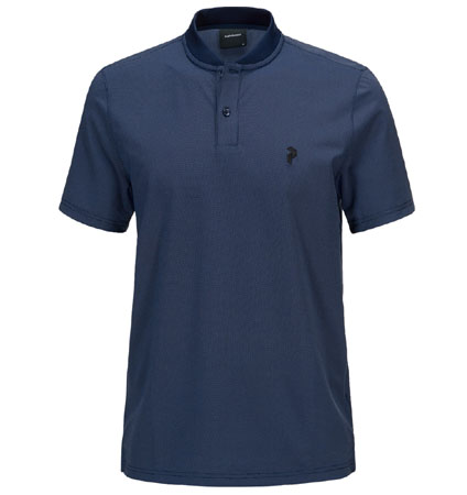 2018 PeakPerformance Austin Polo Thermal Blue