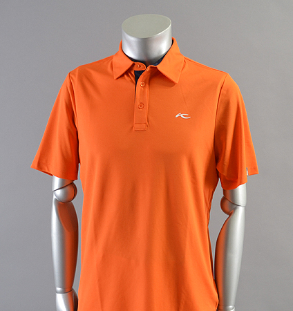 KJUS MEN SILAS POLO FRONT LOGO Orange