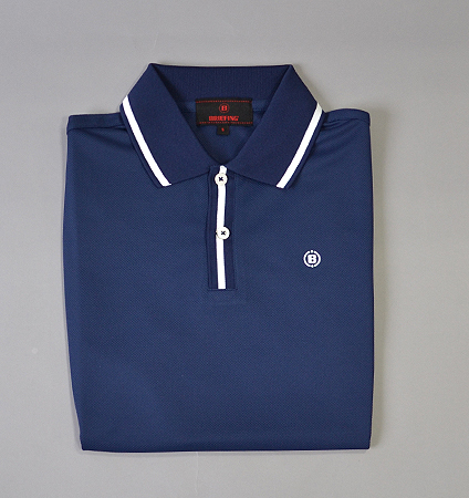 BRIEFING RIB LINE POLO SHIRTS NAVY