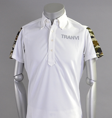 Tranvi TRSHB-006 Camo Sleeve Shirts White/Green