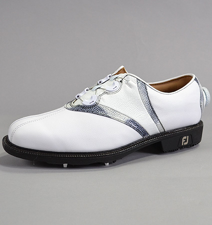 Footjoy Icon V-Saddle BOA #52042 White Smooth/White Gator/Sterling Cloud Grey