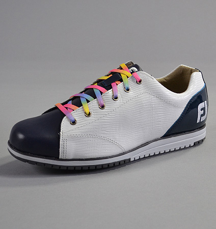 FootJoy Women's LoPro Casual Custom Navy Blue Smooth/White Small Lizard/Navy Patent