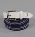 Tranvi Stripe  Belt Navy/Gray