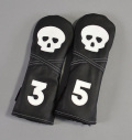 "Rose&Fire ""Skull"" Premium USA Leather Fairway Headcovers"