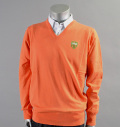 2017 Fairy Powder FP17-1102 Stretch Cotton V-Neck Sweater Orange