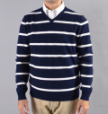 AG Green Label HELIOS V-NECK SWEATER NAVAL BLUE