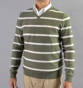 AG Green Label HELIOS V-NECK SWEATER MILITARY MOSS