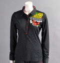 ILicca Golf IG16-6100 Long sleeves shirt ひょうと女の子 Black