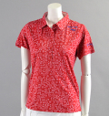 ILicca Golf IG17-2101  Print Polo Red