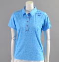 ILicca Golf IG17-2101  Print Polo Blue
