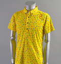 2017 ILicca Golf IG17-1100 Print BD Polo Yellow