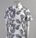 AG Green Label PALMS POLO PALM PRINT BRIGHT WHITE