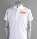 Tranvi TRSHB-003 Oval Logo Shirts White/Orange