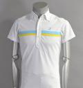 Tranvi TRSHB-021 Line Shirts White/Sax/Yellow