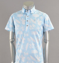 Tranvi TRSHB-017 Aloha Print Shirts Sax