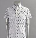 Tranvi TRSHB-022 BD Dot Print Shirts White