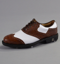 Footjoy Icon Custom 52040 White Smooth/Brown Lizard