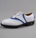 Footjoy Icon V-Saddle BOA #52042 White Smooth/White Gator/Blue Elephant
