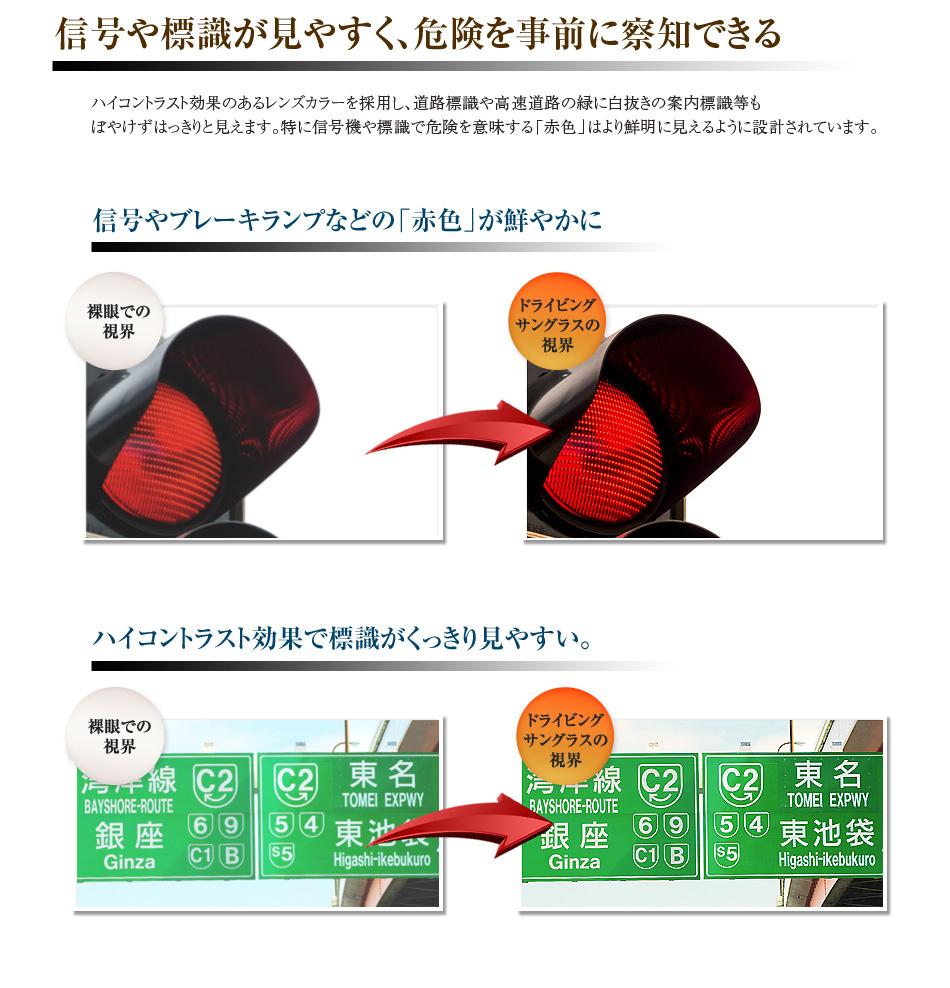 信号や標識が見やすく、危険を事前に察知できる