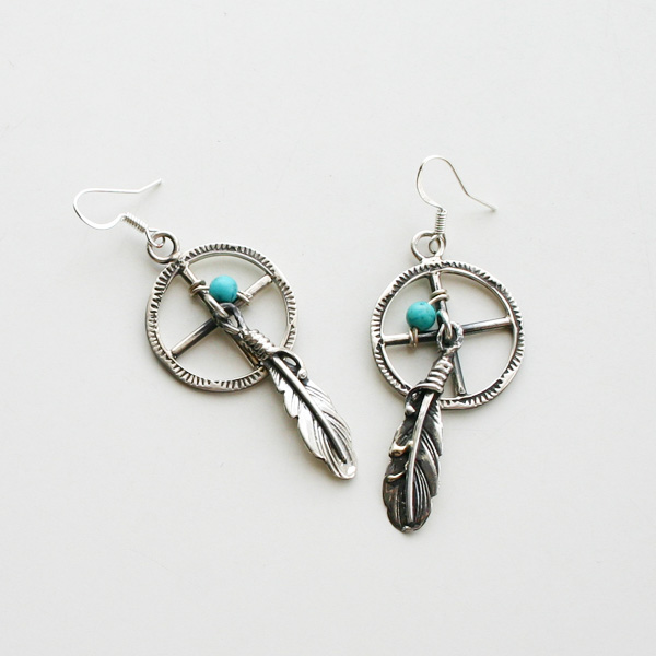 HARPO/DREAMCATCHER EARRINGS ER12/ERN10 GREEN TURQUOISE