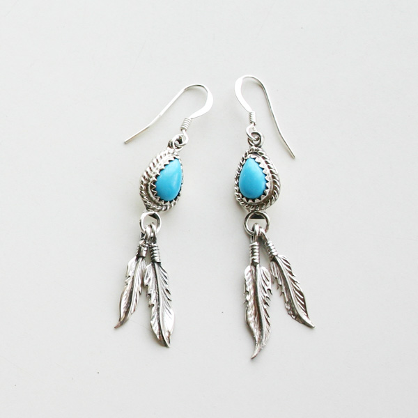 HARPO/FEATHER EARRINGS ER14/ERNO11 TURQUOISE