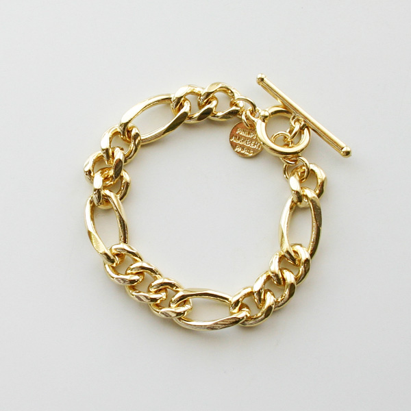 PHILIPPE AUDIBERT/Doug chain bracelet, brass light gold color,
