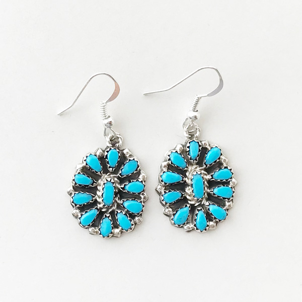 HARPO/BO02 Small Flower Earrings in Turquoise