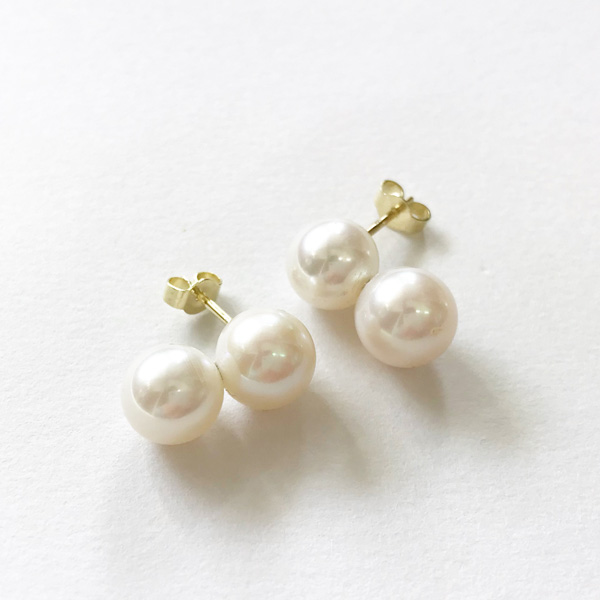 Saskia Diez/PEARL POP EARRINGS 585 AU, FW PEARL