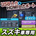 USB-SZ■Eタイプ■スズキ車系■USB入力ポート&HDMI入力ポート カーUSBポート■増設 スイッチパネル サービスホール スイッチホールカバー