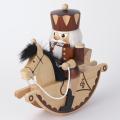 くるみ割り人形 馬に乗った王様(木目調)