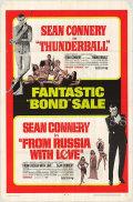 【映画ポスター グッズ】007 サンダーボール作戦 007 ロシアより愛をこめて (ジェームズボンド/ショーン・コネリー/Thunderball/007 From Russia with Love) /片面 [オリジナルポスター]