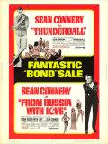 【映画ポスター グッズ】007 サンダーボール作戦 007 ロシアより愛をこめて (ジェームズボンド グッズ/ショーン・コネリー/Thunderball/007 From Russia with Love) /片面 [オリジナルポスター]