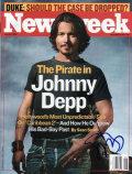 【直筆サイン入り雑誌】ジョニー・デップ (パイレーツ・オブ・カリビアン 等/Johnny Depp) [映画グッズ/オートグラフ]