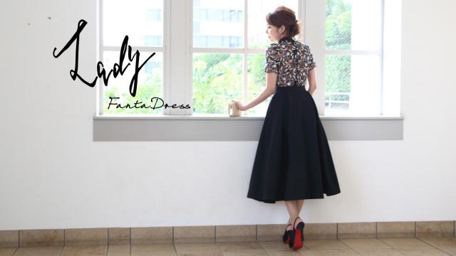 ミディ丈 大人ドレス(Lady FantaDress)