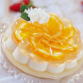 パーティーデザート オレンジ&チーズケーキ