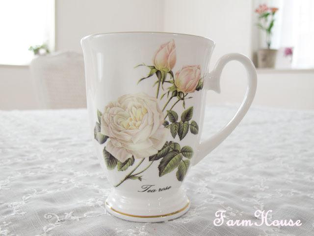 白薔薇 マグカップ