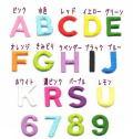アルファベット数字の刺繍カラーワッペン色一覧