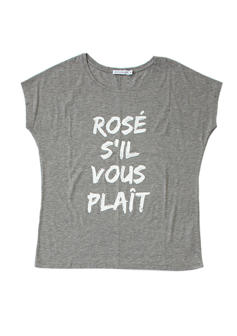 SOUTH PARADE(サウスパレード) ROSE SIL VOUS PLAIT TAYLOR Tシャツ(HGRY)