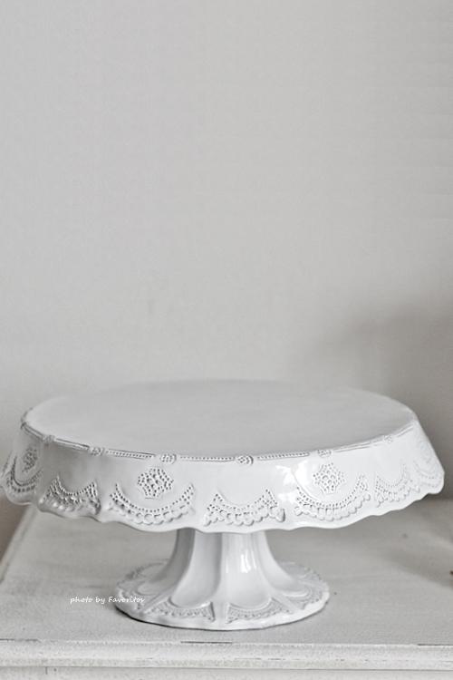 VBC Casa|La Ceramica(ラ・セラミカ) フリルホワイトケーキプレート