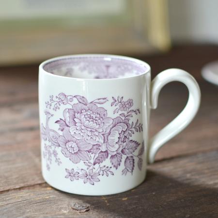 burleigh(バーレイ) |プラム アジアティック フェザンツ マグカップ