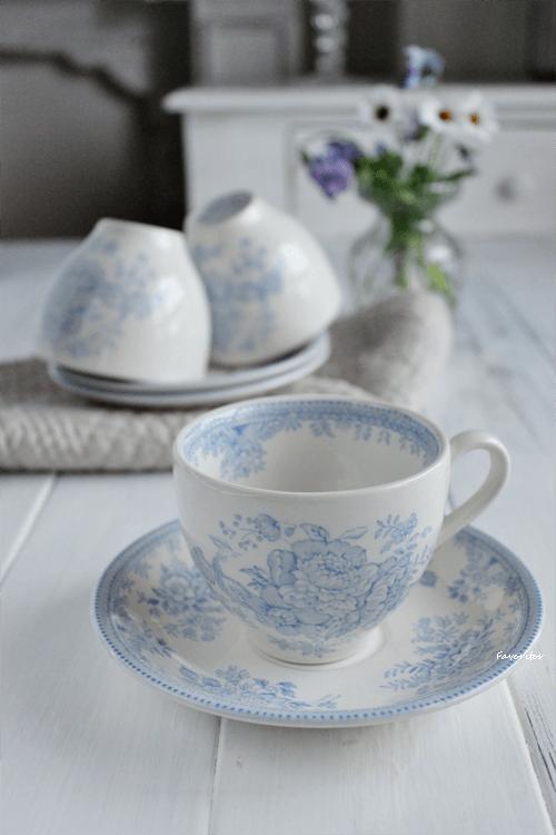 burleigh(バーレイ) |ブルー アジアティック フェザンツ カップ&ソーサー(180ml)