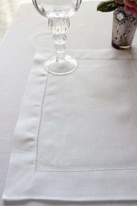 【送料・代引手数料無料】 アレクサンドル チュルポー プレイスマット(ランチョンマット) 'Florence' ホワイト4枚セット