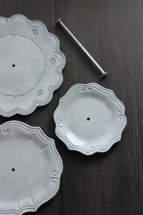 VBC Casa|La Ceramica(ラ・セラミカ) ホワイトケーキプレート3段