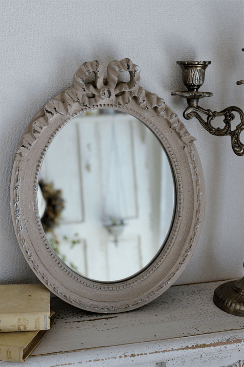 【送料・代引手数料無料】 Mathilde M.(マチルドエム)| リボンミラー Oval Louis XVI(縦型)