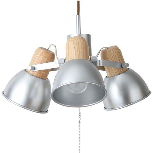 MERCROS ALUMIaWOOD-3BULB-PENDANT-LAMP-SV