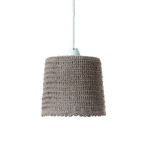 MERCROS CROCHET-1BULB-60W-PENDANT-LIGHT-KNIT-OLIVE